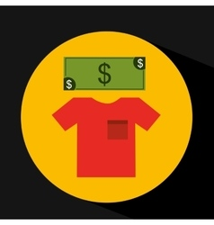 Ecommerce shopping icon vector