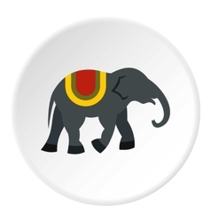 Elephant icon flat style vector image vector image