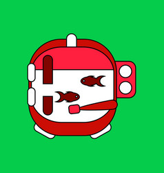 Flat icon design collection astronaut helmet with vector