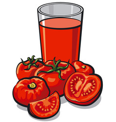 fresh tomato juice vector image vector image
