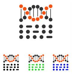 genetic code flat icon vector image vector image