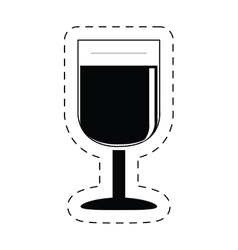 glass cup wine beverage pictogram vector image vector image