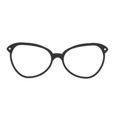 Glasses vintage retro hipster isolated vector