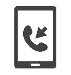 Incoming call solid icon contact us and website vector