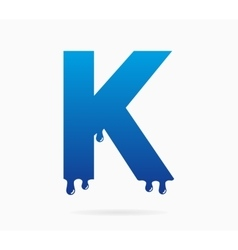 Letter K logo or symbol icon vector image vector image