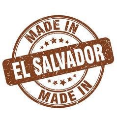 made in el salvador brown grunge round stamp vector image vector image