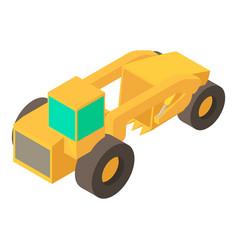 Motor grader machine icon isometric 3d style vector