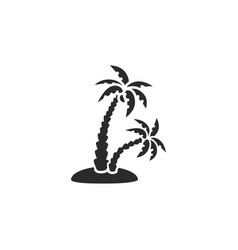 Palm tropical trees island vector