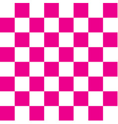 pink and white checker pattern vector image