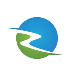 R River Logo vector image vector image