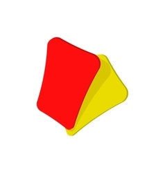 Red and yellow soccer card cartoon icon vector