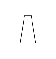 Road line icon navigation and street vector