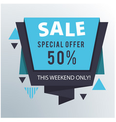 Sale special offer 50 origami image vector