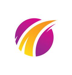 success circle arrow business finance logo vector image vector image