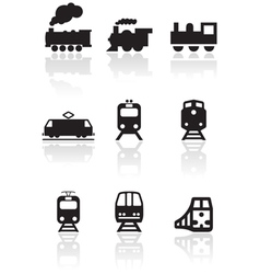 train symbol set vector image