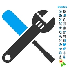 Tools flat icon with bonus vector