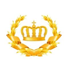 Vintage emblem gold vector image
