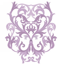 Damask baroque element vector