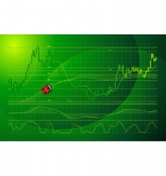 Forex chart vector image