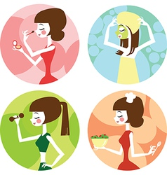 Female lifestyle vector
