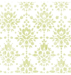 Green textile damask flower seamless pattern vector