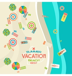 Summer beach banner vector