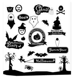 Happy halloween day silhouette colections design vector