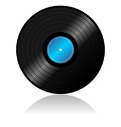 vinyl record with reflex vector image