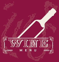 Menu wine design vector