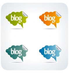 Blog elements vector
