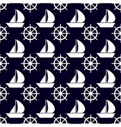 Marine and nautical backgrouns sea theme cute vector