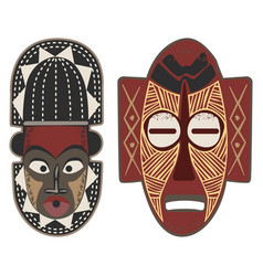 african-masks-4-5 vector image vector image