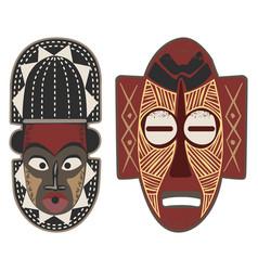 African-masks-4-5 vector