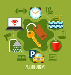 All inclusive design concept vector