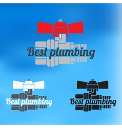 Best plumbing design for business sign icon vector image