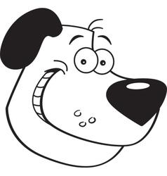 Cartoon Dog Head vector image vector image