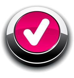 Check 3d round button vector