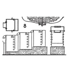 Chlorination barrel vintage vector