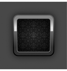 chrome floral button vector image vector image