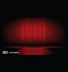 Digital abstract red curtain background vector