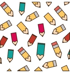 drawing colors school seamless pattern vector image