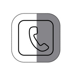 figure symbol phone icon vector image