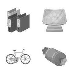 Finance sport and other monochrome icon in vector