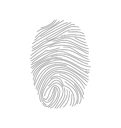 Fingerprint icon vector image vector image