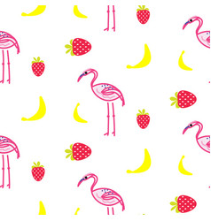 Flamingo summer seamless texture vector
