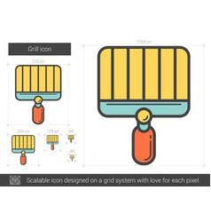 Grill line icon vector
