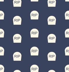 Halloween seamless pattern with tombstones rip vector
