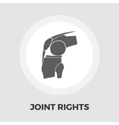 Joint flat icon vector
