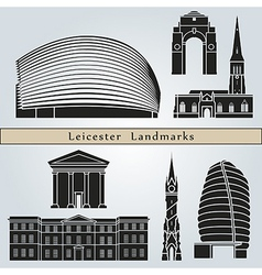 Leicester landmarks and monuments vector image