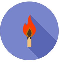 Lit matchstick vector
